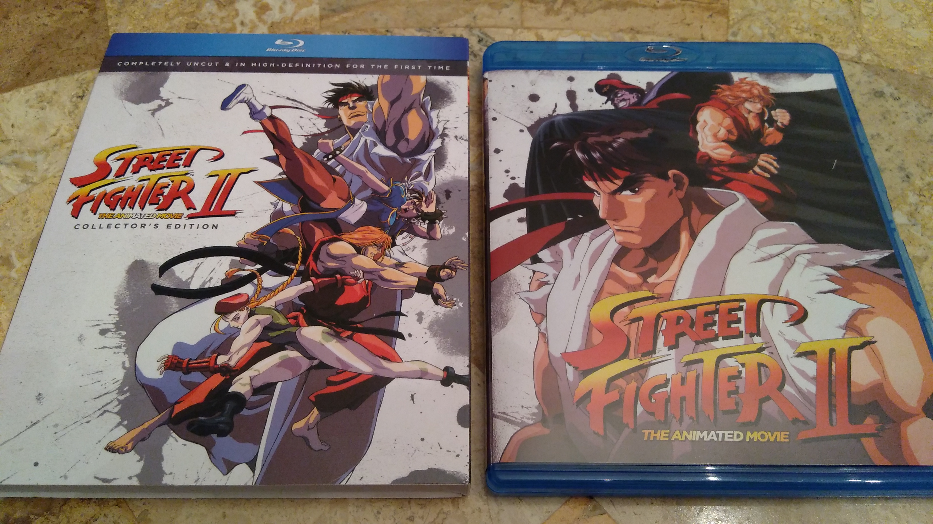 The Blu-ray's slipcover and case