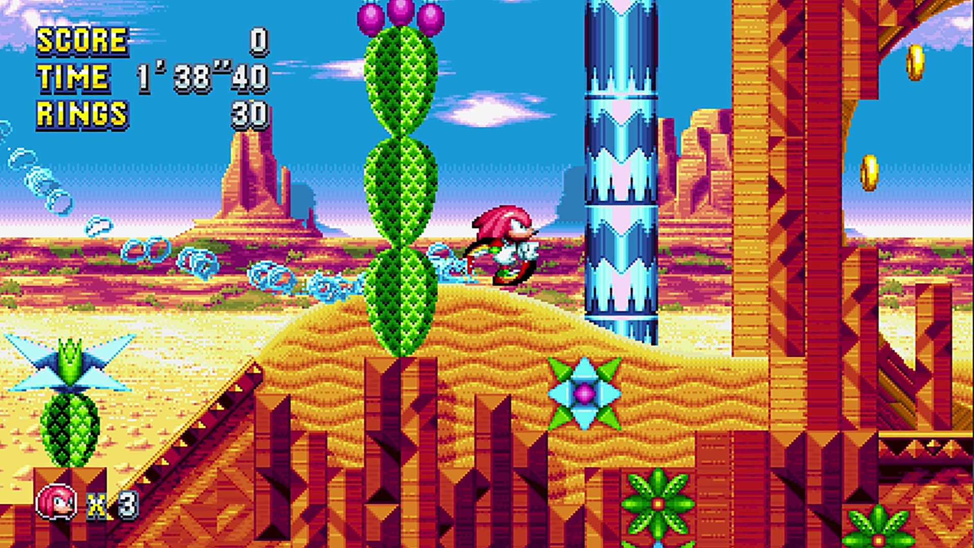 Knuckles in Sonic Mania