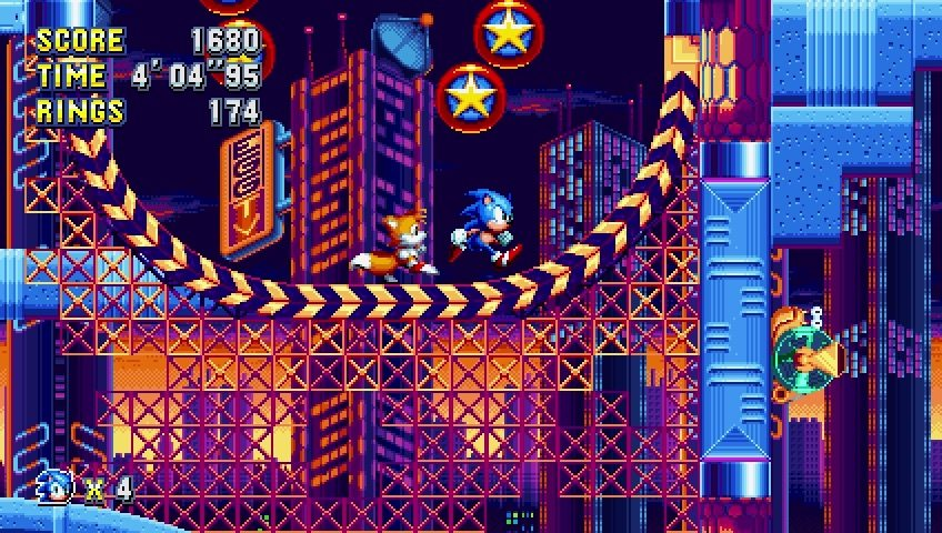 Sonic & Tails in Sonic Mania