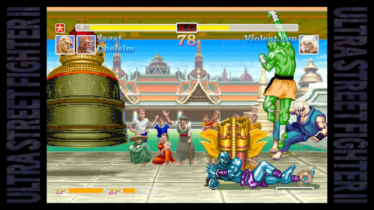 Ultra Street Fighter II buddy battle screenshot